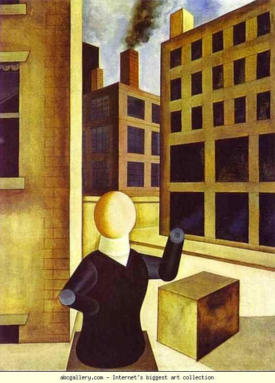 George Grosz. Untitled. 1920. Oil on canvas. 81 x 61 cm. Kunstsammlung Nordrhein-Westfalen, Düsseldorf, Germany