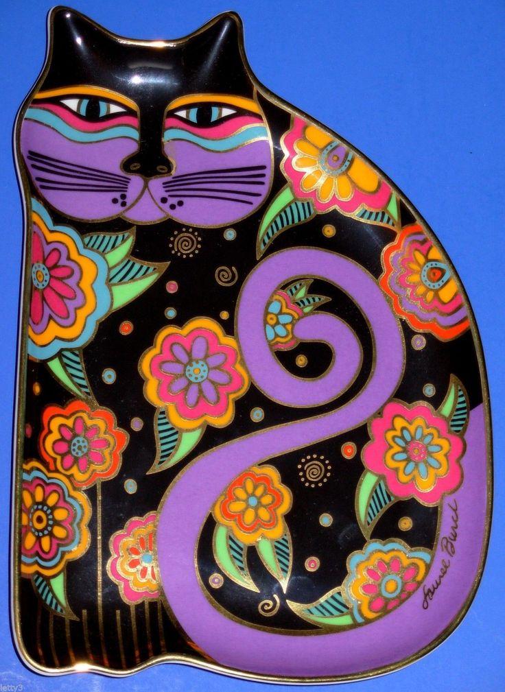 Feline Fantasy Laurel Burch Royal Doulton Franklin Mint Cat Plate FM Stand Reduc | eBay