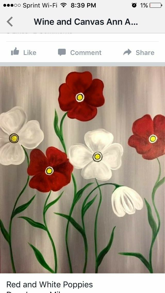 Pin by Rosemary Weber on Flowers are art  | Easy canvas