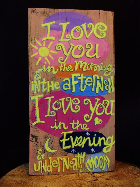 Cheery children's nursery rhyme sign handpainted by expressionshop, $32.00