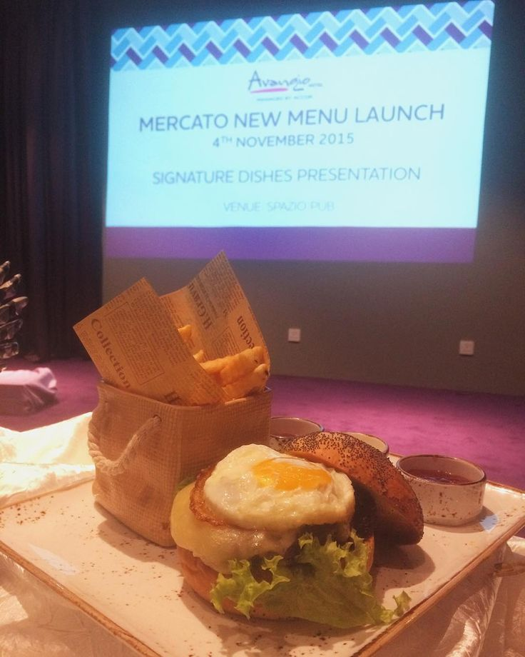"""Ultimate burger part of Mercato new Menu lauching. Mercato Restaurant is a French inpired fusion restaurant at Avangio Hotel Metrotown. Just mention """"MercatoNewMenu"""" when visiting Mercato Restaurant this month and get 10% off total food bill (Excluding alcohol and beverages)"""