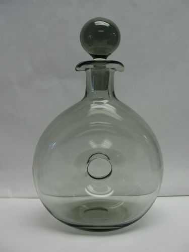 Holmegaard Scandinavian Art Glass Donut Decanter Smoke | eBay