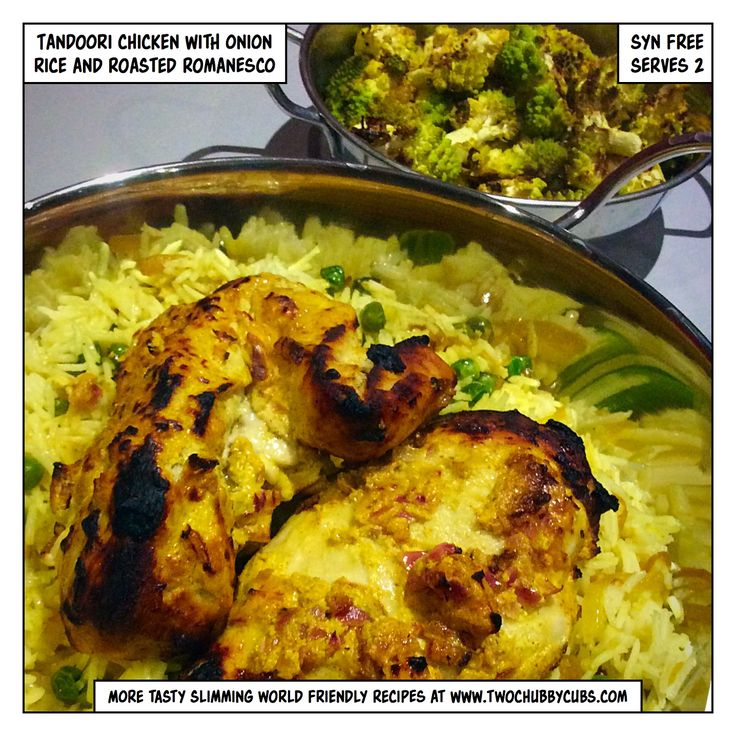 Tandoori chicken made Slimming World friendly. Tastes good and features a decent way of eating romanesco, a handy speed food. Smells like farts, mind. Remember, at www.twochubbycubs.com we post a new Slimming World recipe nearly every day. Our aim is good food, low in syns and served with enough laughs to make this dieting business worthwhile. Please share our recipes far and wide! We've also got a facebook group at www.facebook.com/twochubbycubs - enjoy!