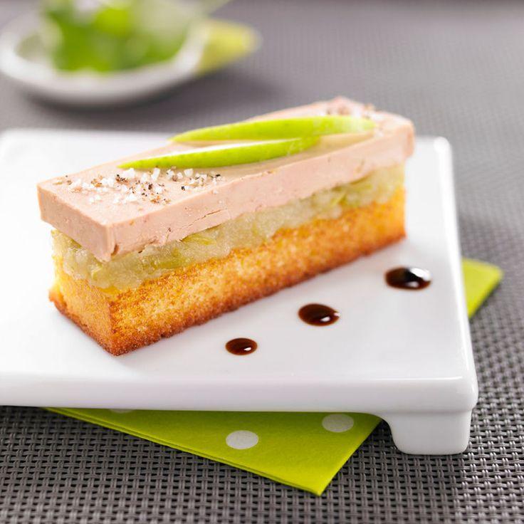Quatre-Quarts epice, foie gras et pomme acidulee