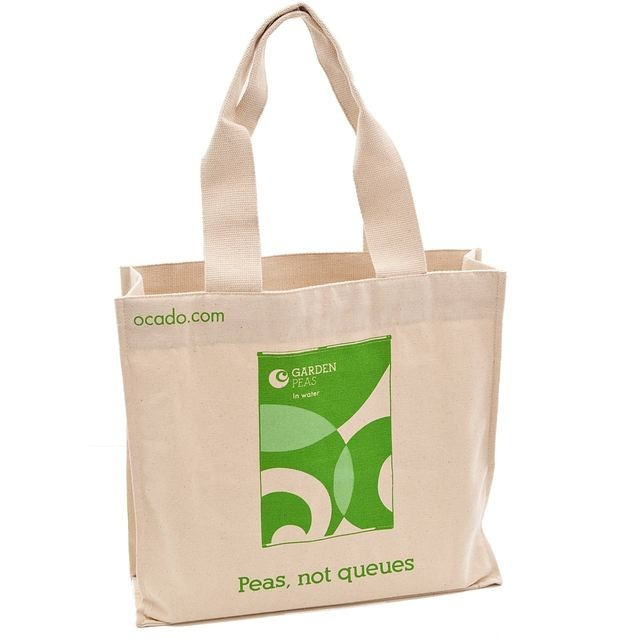 Here's the front of one of the Ocado tote bags up for grabs.
