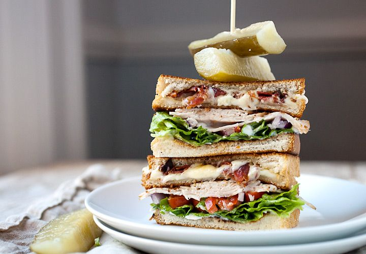 Grilled Cheese Club Sandwich: For the sandwich lover that just can't decide, this is the answer. Half grilled cheese and half turkey club, this is my new favorite lunch. As easy to make as either of the halves and doubly delicious. | macheesmo.com  @macheesmo