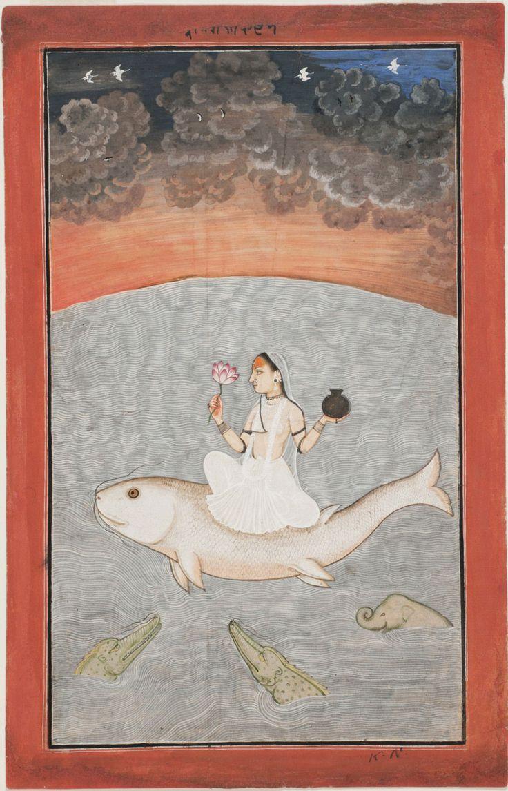The Goddess Ganga - Mandi, Himachal Pradesh, India c. 1650-75