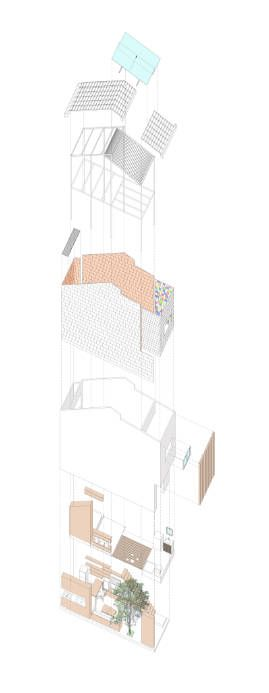EXP_AXO_EXPLODED. 3×9 House / a21 studio