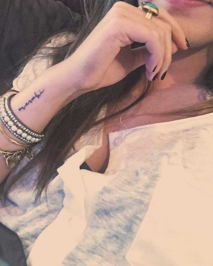 Meraki// Greek word that means the love, creativity, and soul put into something/your work.  Wrist Tattoo Word Tattoo Jacques & Gilles