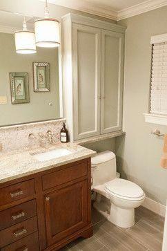 over toilet cabinets-  Waynesboro Master Bath Renovation – transitional – Bathro…   – bathroom storage