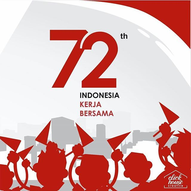 happy independence day indonesia, 72th 🇲🇨 . . . . #design #graphics #graphicdesign  #business #logos #digital #digitalmarketing #marketing #creative #clickhousecreative #work #independence #day #72th #anniversary #info #infographic #information #malang #indonesia #illustration #freedome #HUT #RI #72