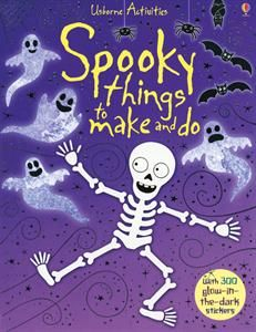 """""""Spooky Things to Make and Do"""" has great arts and crafts for kids that look great as decorations and party favors and more!"""
