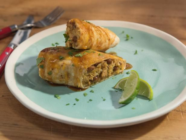Get Sunny's Honey Chipotle Chicken Wet Burrito Recipe from Food Network