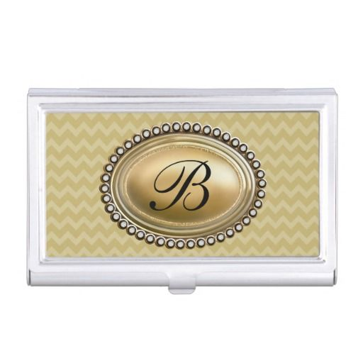 9 best ladies business card cases images on pinterest business monogram business card holder for women with stylish zigzag chevron pattern and cameo style glitzy monogram colourmoves Image collections