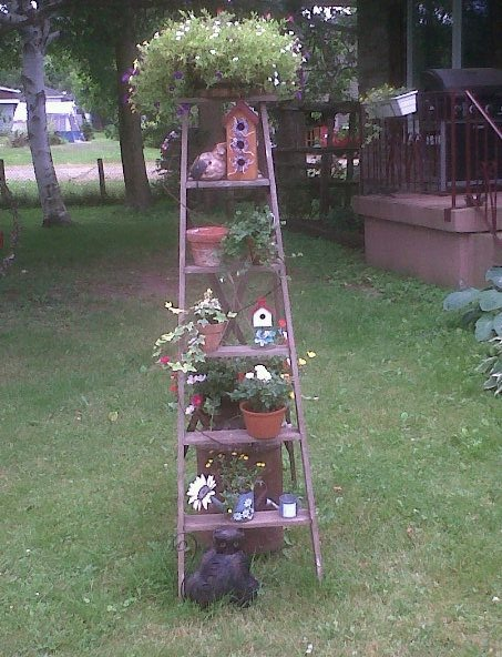 Pin by jane filyaw on outdoor projects pinterest for Old wooden ladder projects