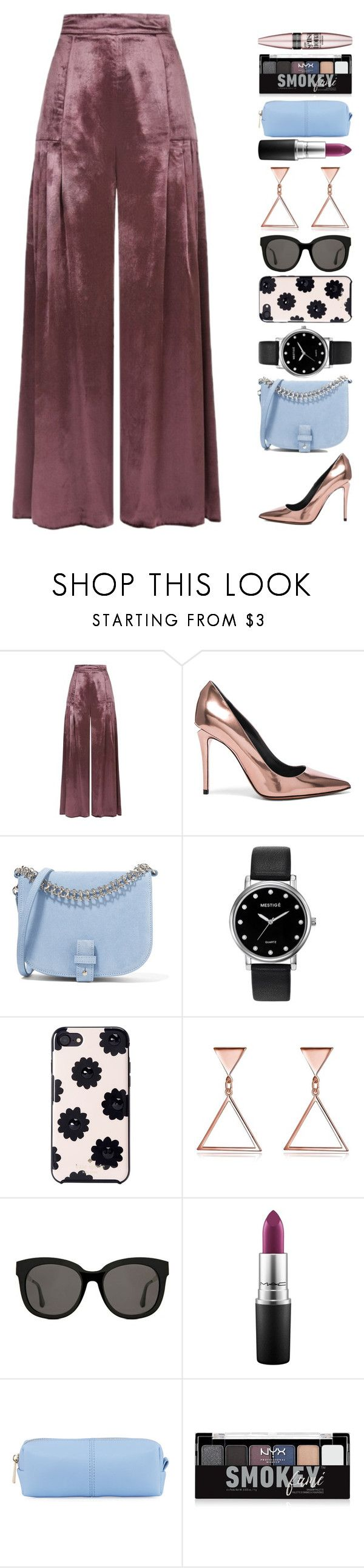 """2 novembre"" by elyblog ❤ liked on Polyvore featuring Temperley London, Alexander Wang, Little Liffner, Mestige, Kate Spade, Gentle Monster, MAC Cosmetics, KC Jagger, NYX and Maybelline"