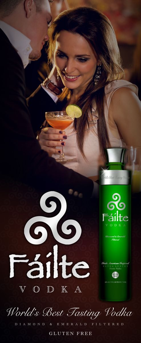 St. Patrick's Day can be celebrated with FÁILTE VODKA an Irish American Inspired Potato Vodka....FÁILTE VODKA  - The World's Best Tasting Vodka. Best tasting vodka for the smoothest and best tasting vodka Martinis. FÁILTE VODKA  is an #ultra #luxury #potato #vodka that is DIAMOND & EMERALD Filtered making it not only the #best #vodka but also the #smoothest #vodka on the planet. FÁILTE VODKA is distilled from potatoes making it also a #GLUTEN #FREE #vodka. #FÁILTE #VODKA is an #award…