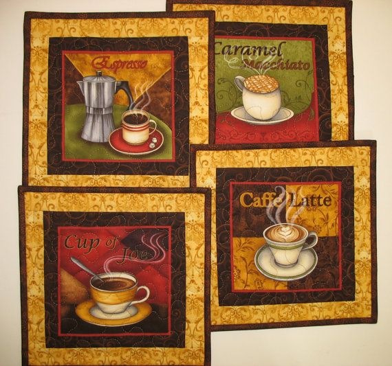 Reserved for Rita Mug Rugs Quilted by PicketFenceFabric on Etsy, $32.00
