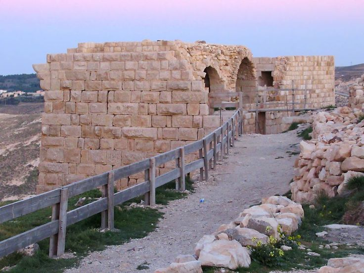 hawbak Castle toward Petra in southern Jordan was built by Crusaders under Baldwin I of Jerusalem in 1115. It eventually fell to the the armies of Saladin in 1189 after a two-year siege.