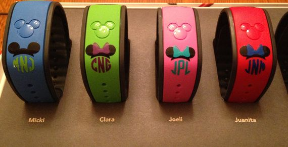 Magic Band Monogram Mickey/Minnie Decal Magic Band by theauntfarm