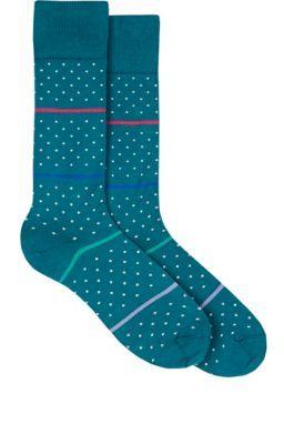 PAUL SMITH Striped & Dotted Mid-Calf Socks. #paulsmith #cloth #socks