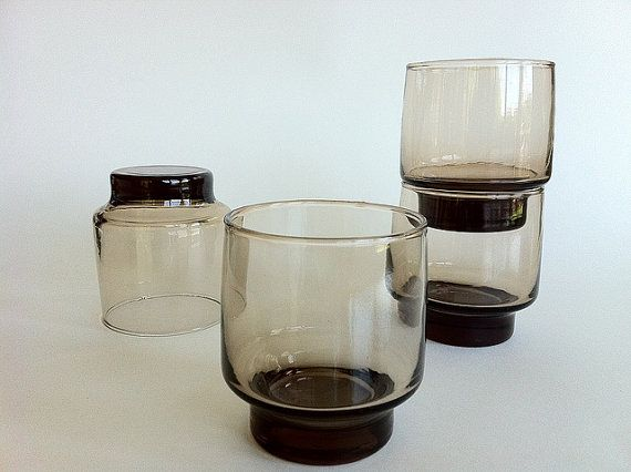 Accent Libbey Glassware Tawny Brown by vintage19something on Etsy $17.00 & 22 best Vintage Libbey Glassware images on Pinterest | Medieval Mid ...