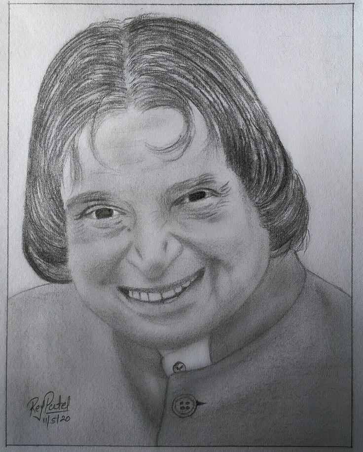 Apj abdul kalam in 2020   My drawings, Male sketch, Drawings