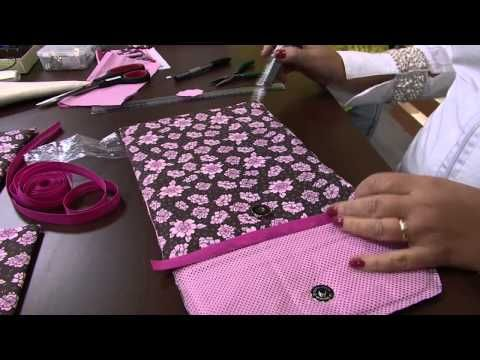 Como fazer uma bolsinha para celular e tablet de meninas - YouTube