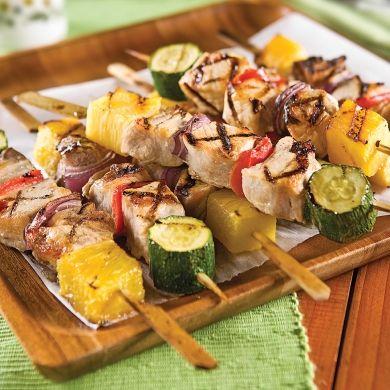 Brochettes de porc au parfum d'érable - Recettes - Cuisine et nutrition - Pratico Pratique