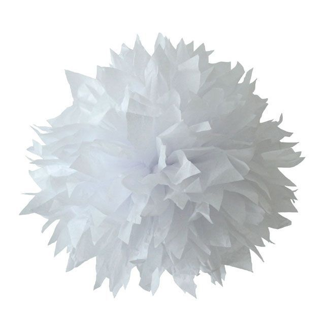 PomPoms zijn hippe papieren bollen gemaakt van zijdevloei papier. Gebruik ze in plaats van slingers voor een feestje of om je kamer opnieuw te stylen. Ze zijn verkrijgbaar in 3 maten small (23 cm), medium (28 cm) en large (37 cm). Je kunt ze makkelijk uitvouwen en doormiddel van de nylondraad ophangen.