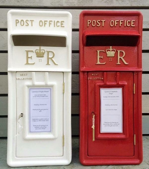 White or Red Wedding Royal Mail Post Box FOR HIRE £35 Royalmail Postbox | in Kings Langley, Hertfordshire | Gumtree