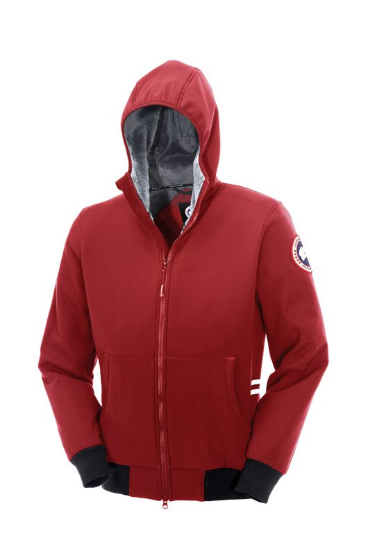 canada goose jackets uk womens tremblant full zip hoody red