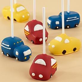 car shaped cake pops - make little ute's for paul's graduation party