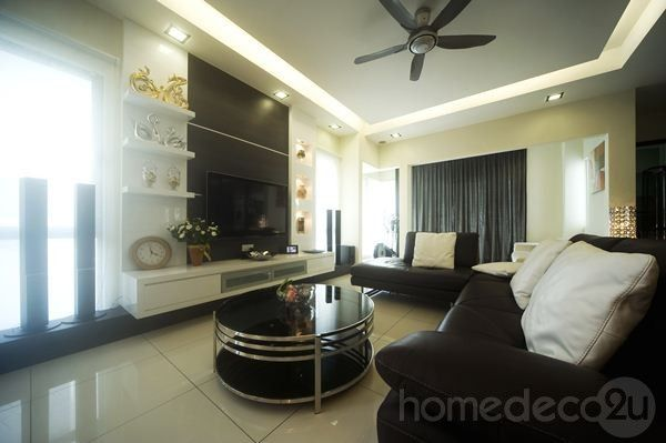 Modern Contemporary Interior Design on 2 1/2 Storey House in Kepong, Malaysia by Living Space Creative Design