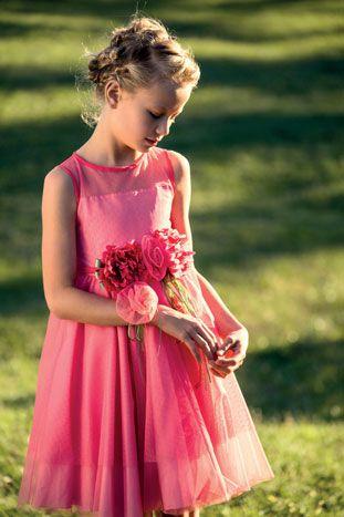 abito moda tulle rosa fiori made in italy aletta couture