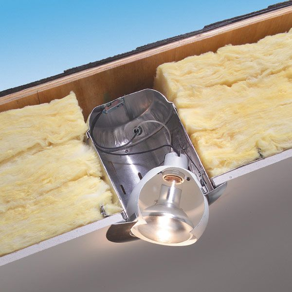 Recessed Lighting Installation Insulated Ceiling : How to use insulated can lights in ceilings