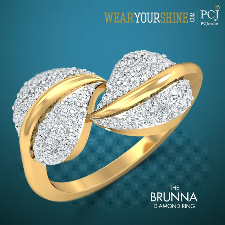 "Feel the nature's bliss with ""The Brunna Diamond Ring"" at WearYourShine.com  #Ring #Jewellery #Diamonds #Fashion #Trends #Ecommerce #Accessories #Store #Everything #Roposo #SoRoposo"