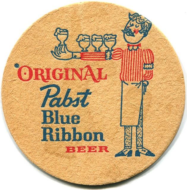 Pabst Blue Ribbon - c.1965 by roger4336, via Flickr: Illustration, Photo