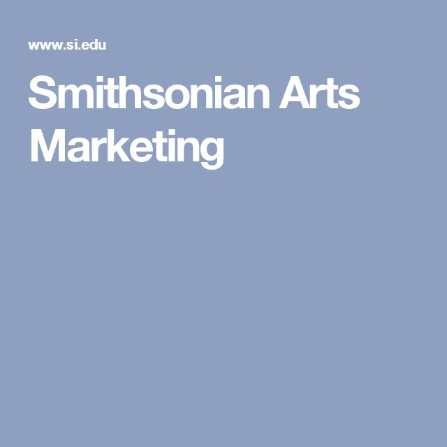 Smithsonian Arts Marketing