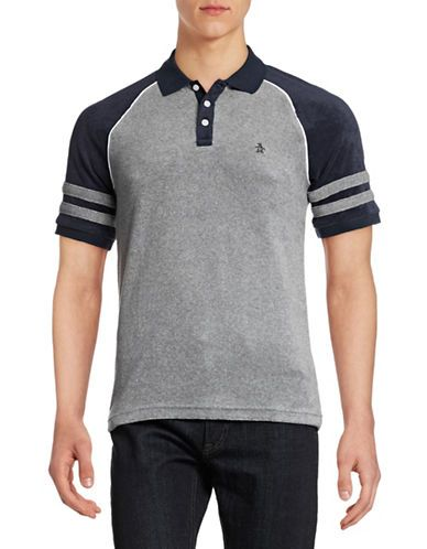 Men | Men | Raglan Terry Polo Shirt | Hudson's Bay