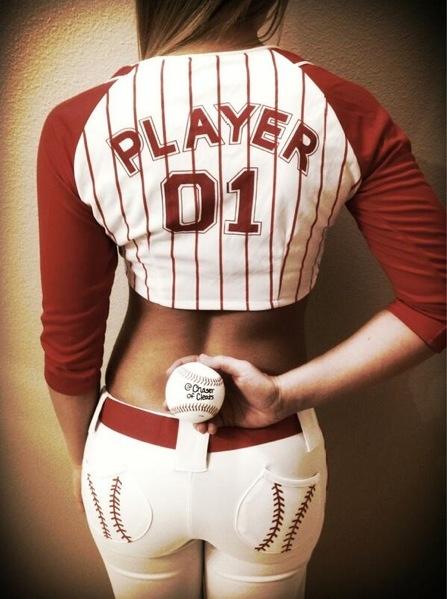 Cute baseball outfit