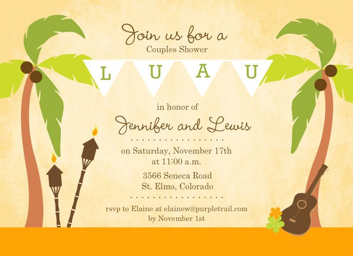 56 best Baby Luau Shower images on Pinterest Baby showers, Luau - retirement party flyer template