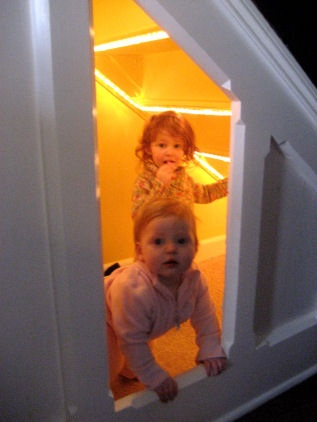 Secret room! Cool play fort under the stairs!