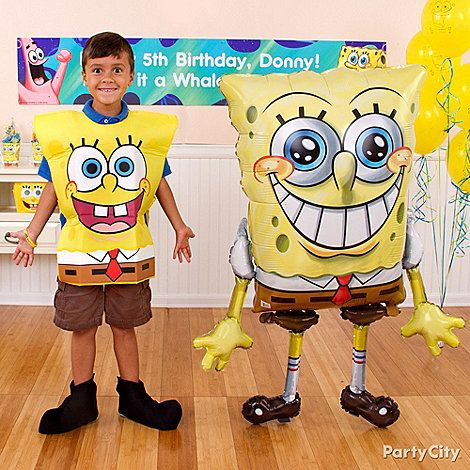 Lifesize SpongeBob balloon?! It's the best day ever! Lots more ideas in our SpongeBob party ideas guide - click to get inspired!