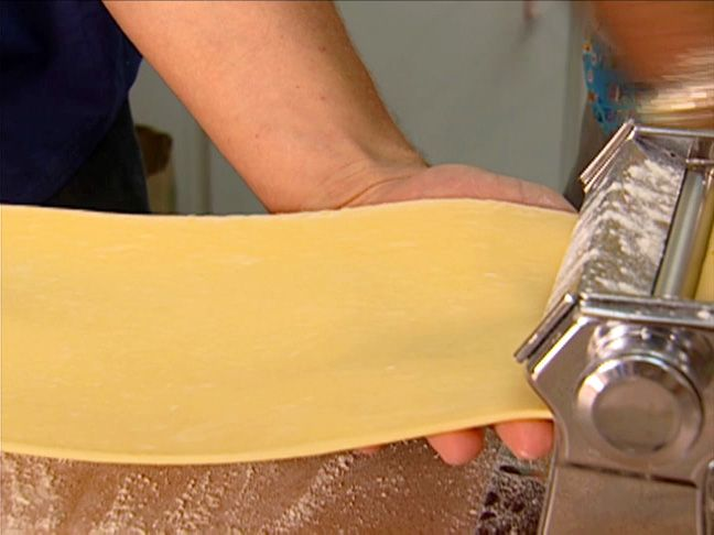Ravioli Dough recipe by Tyler Florence    Hello, Valentine's Dinner! ;)