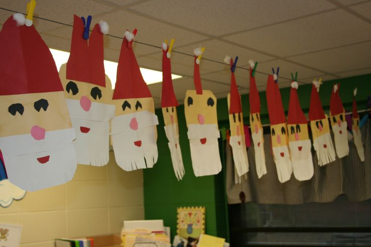 Père Noël : découpage des formes puis collage.