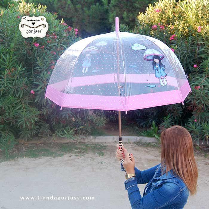 Los paraguas Gorjuss son preciosos, pero el paraguas transparente ya es lo más. ¿Qué te parece? https://www.tiendagorjuss.com/ #gorjuss #santoro #umbrella