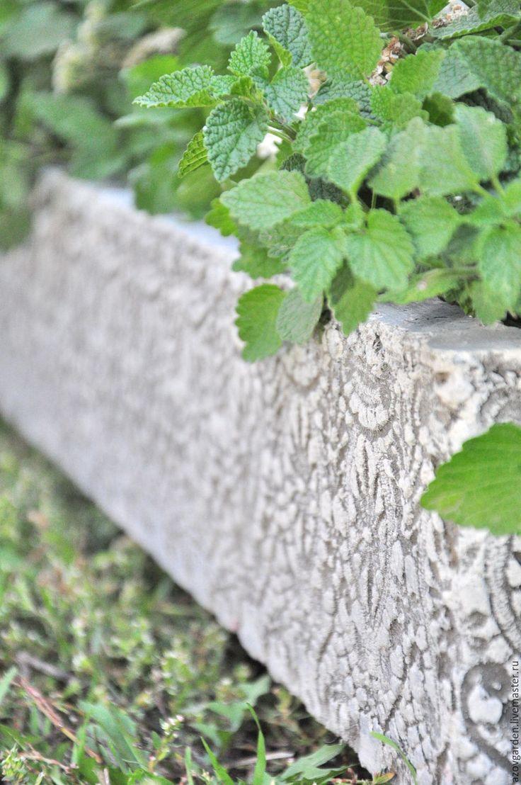 Купить Кашпо для растений из бетона ажурное Прованс под старину - серый, кашпо, декор интерьера