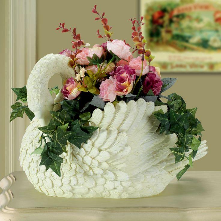 Купить Творческий лебедь цветочный горшок ваза с искусственным цветком смолы животных ваза для украшения дома украшенияи другие товары категории Вазыв магазине Shop1739509 StoreнаAliExpress. лебедь ваза для цветов и ваза для цветов