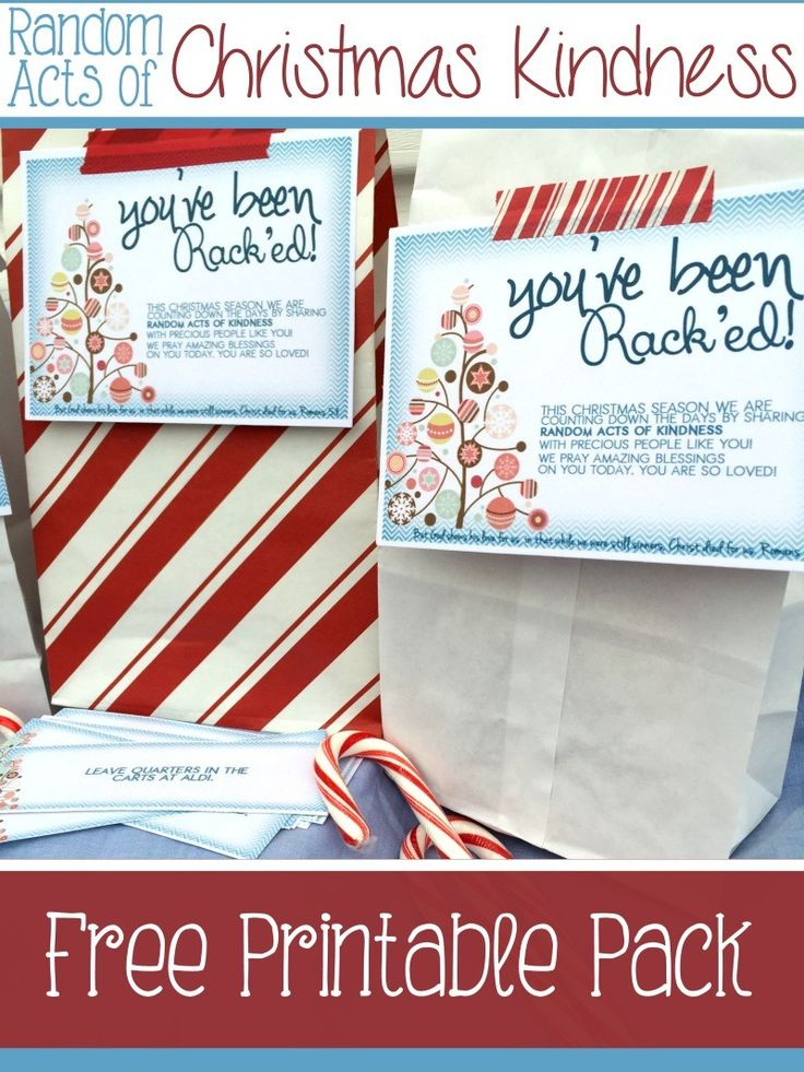 Exceptional Christmas Countdown Gift Ideas Part - 8: Random Acts Of Christmas Kindness Printables. Christmas Countdown CraftsChristmas  Gift IdeasHoliday ...